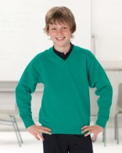 272B Jerzees Schoolgear Children's V-Neck Sweatshirt